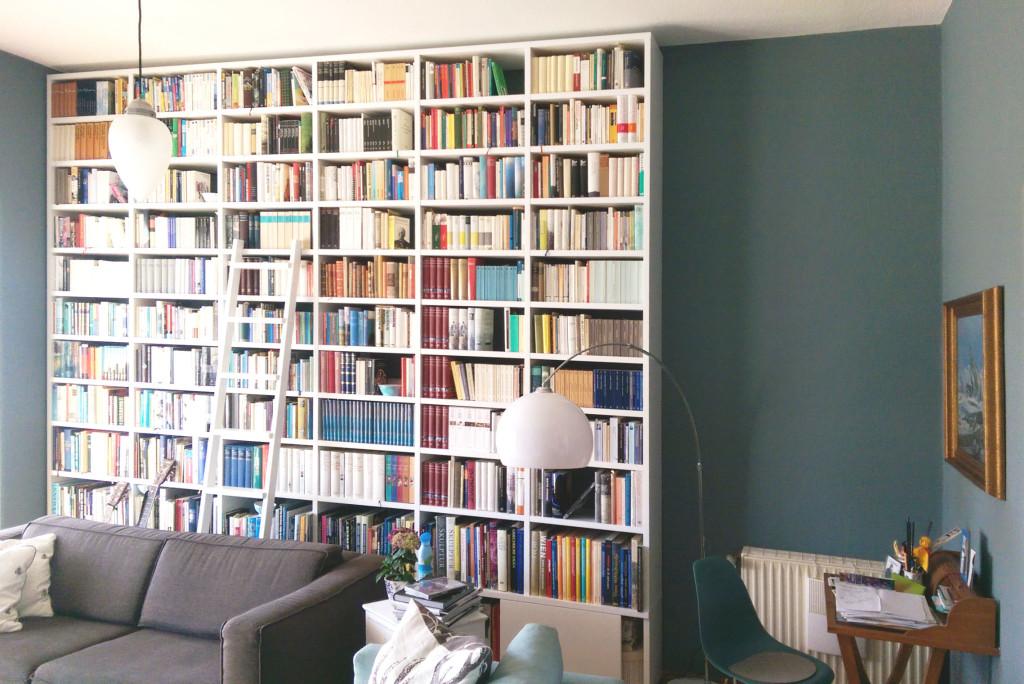 GANTZ Bücherregal 3 Meter mit Leiter